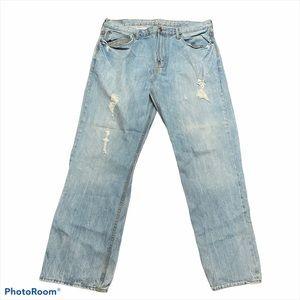 Men's distressed American Eagle light jeans